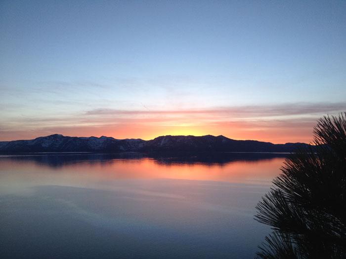 An autumn sunset over Lake Tahoe – winning!