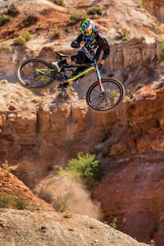 Freestyle mountain bike pro Tyler McCaul (Fox Racing).