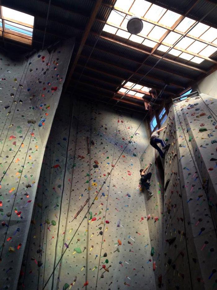 Pacific Edge Climbing Gym in Santa Cruz.
