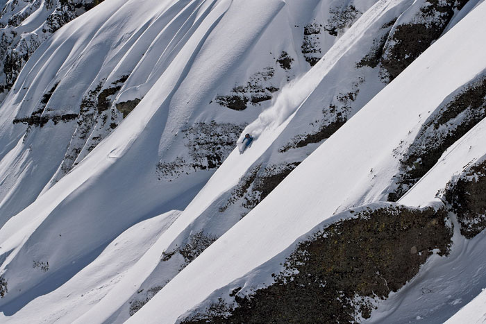 Daron skiing Sugar Bowl's backcountry (Grant Barta).