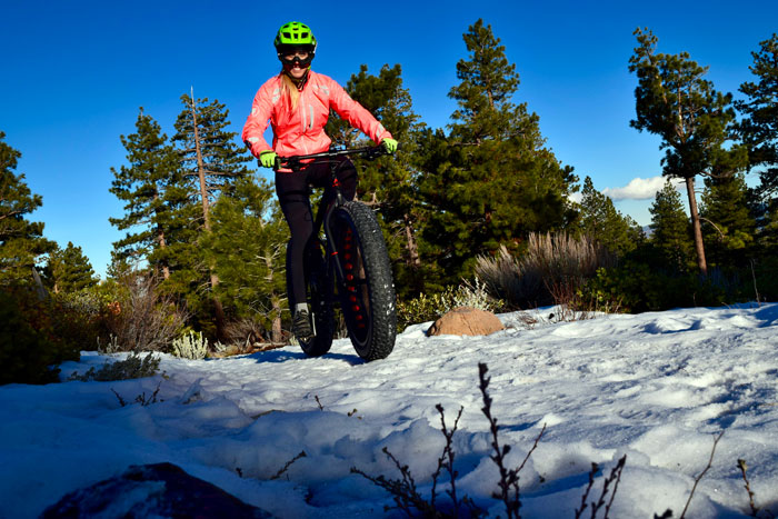 Lauren Gregg takes the Fuji Wendigo out for a spin in the backcountry.