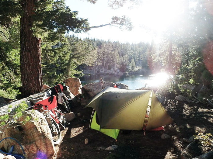 "Pedaling to remote spots allows cyclists to wind down ""off grid"" (Tom Kaeding)."