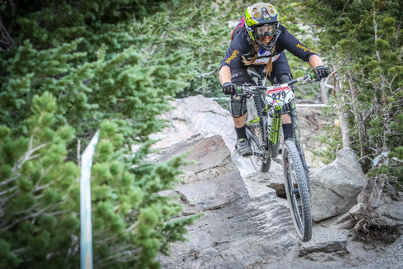 Amy Morrison - 2015 Pro Women California Enduro Series Champion - taking on the gnarly Kamikaze Bike Games course (Called to Creation).