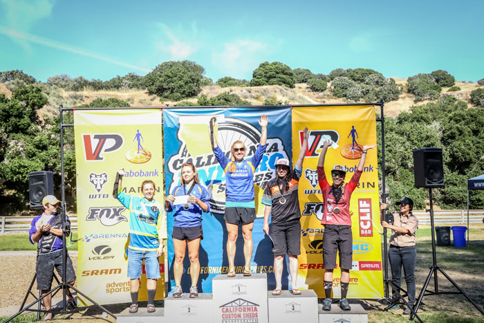 Women's Pro Podium - 1st Place: Amy Morrison 17:20.8, 2nd Place: Essence Barton 17:30.1, 3rd Place: Ali Osgood 17:45.2, 4th Place: Janea Perry 17:49.8, 5th Place: Lauren Gregg 17:51.4