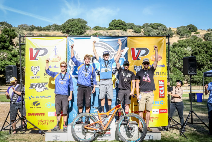 Men's Pro Podium - 1st Place: Dillon Santos 15:05.7, 2nd Place: Evan Geankopolis 15:09.8, 3rd Place: Ian Massey 15:16.5, 4th Place: Cory Sullivan 15:22.0, 5th Place Ryan Gardner 15:24.9