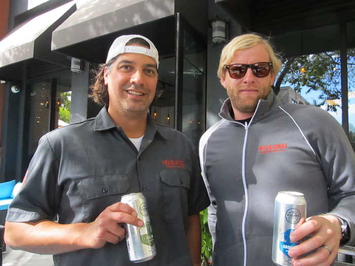 Phil Cutti (left) with Headlands co-founder Patrick Horn (Derrick Peterman).