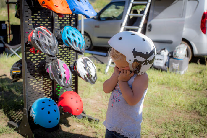 The Kali Protectives helmet exchange program was in full force getting riders of all ages out of their broken helmets and into safe new Kali lids.
