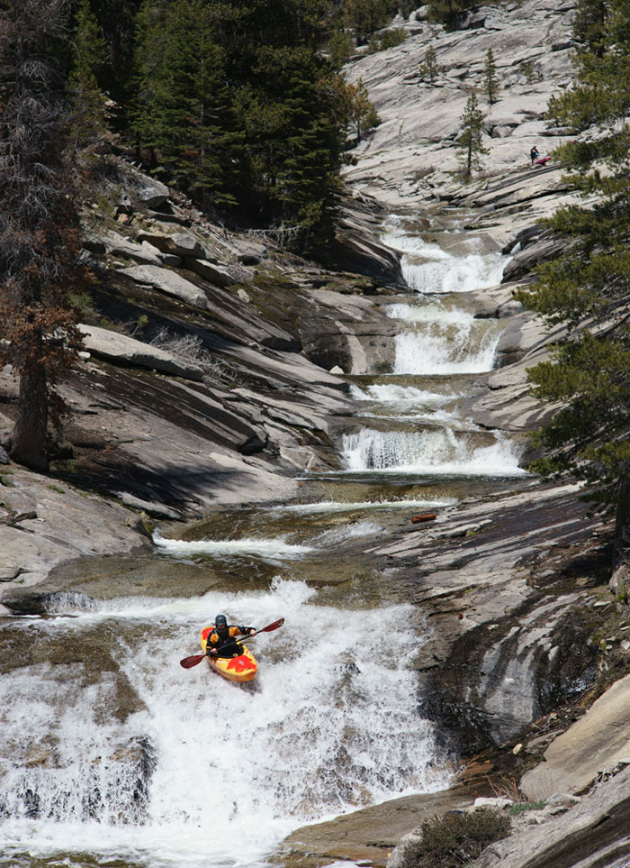 Jeff Wheeler enjoying perfect conditions on Clover Creek, tributary to the Kaweah River (Darin McQuoid).