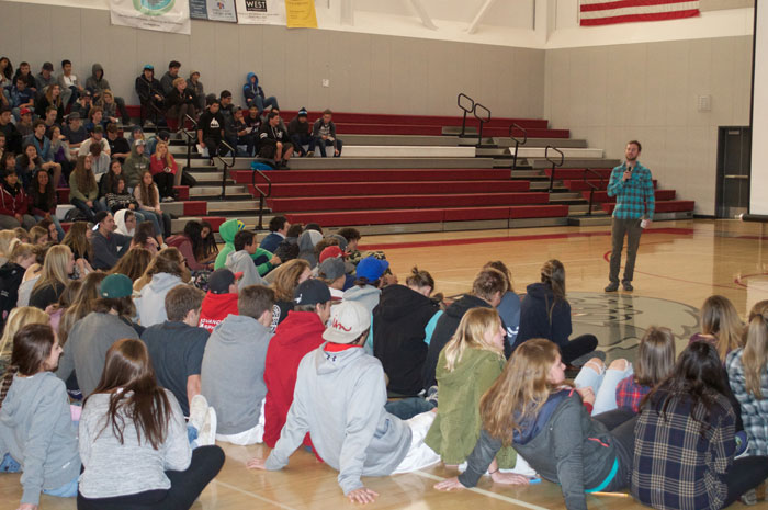 BASICS (Being Aware Safe In Critical Situations) program was created as a way to reach young athletes by promoting smart decision-making in the mountains. The documentary is available free online and is toured around the country for live presentations at schools and for industry professionals. Photo: High Fives Foundation.