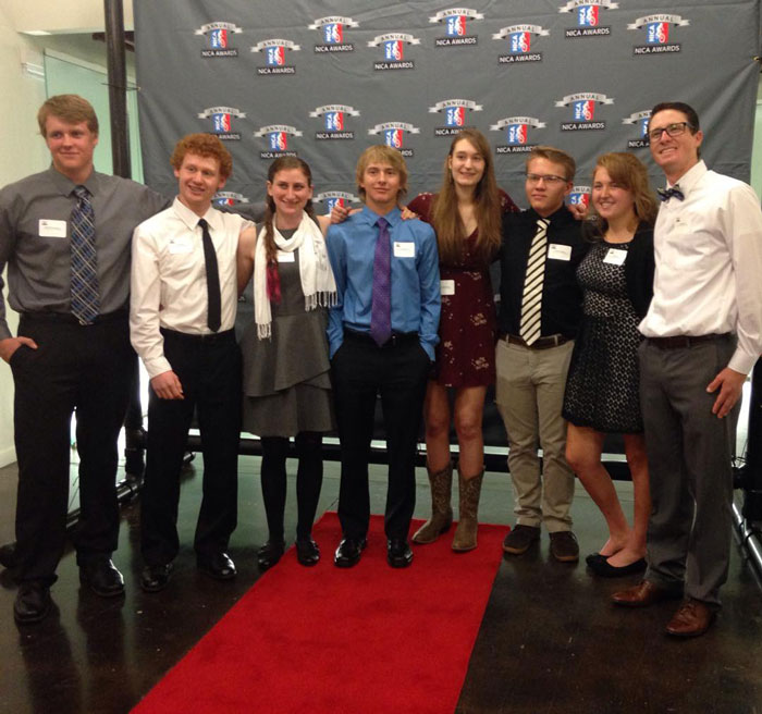 Student recipients of the 6th Annual NICA Awards 2015 at the Clif Bar Headquarters in Emeryville (Stephanie Ruff).