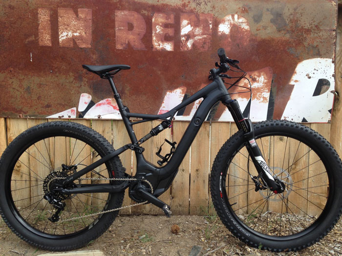Weighing in at 48 pounds, the Turbo Levo electric mountain bike offers three levels of pedal assist and up to five hours of battery life with a 530 watt motor (Kurt Gensheimer).
