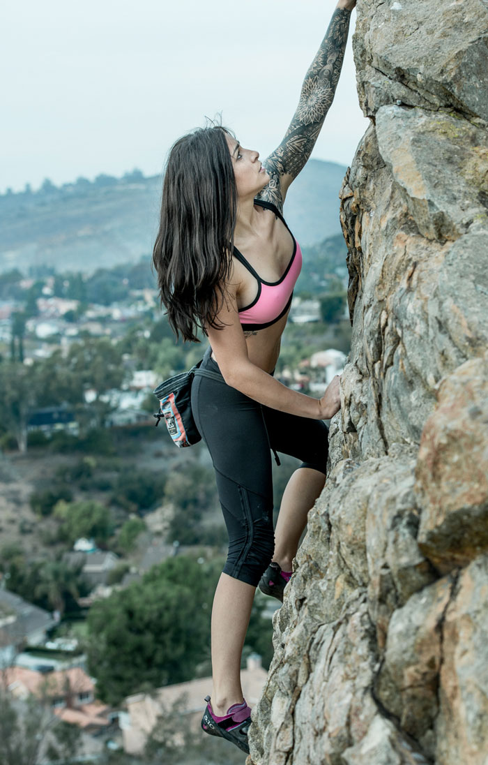 Rock climbing in San Diego (GB Imaging).