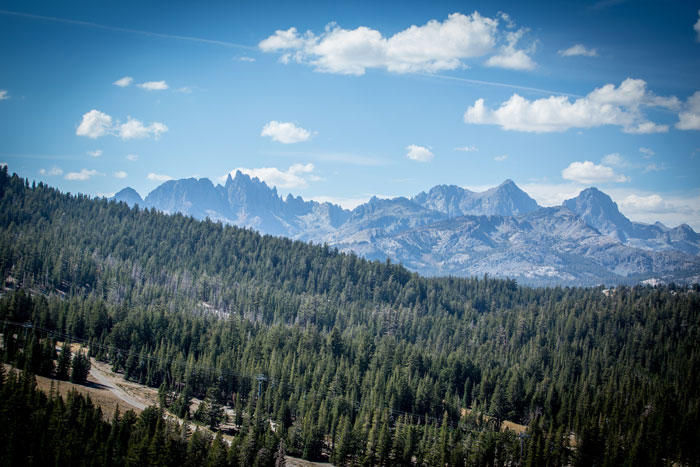 A view of the Minarets from the mountain. Family-friendly adventure is easy to find in the Mammoth Lakes area (Called To Creation).