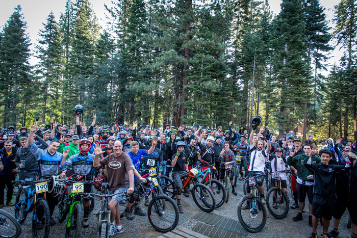 Riders were excited to hit the trails on Saturday morning. The sea of riders was so large, we couldn't capture them all in the photo.