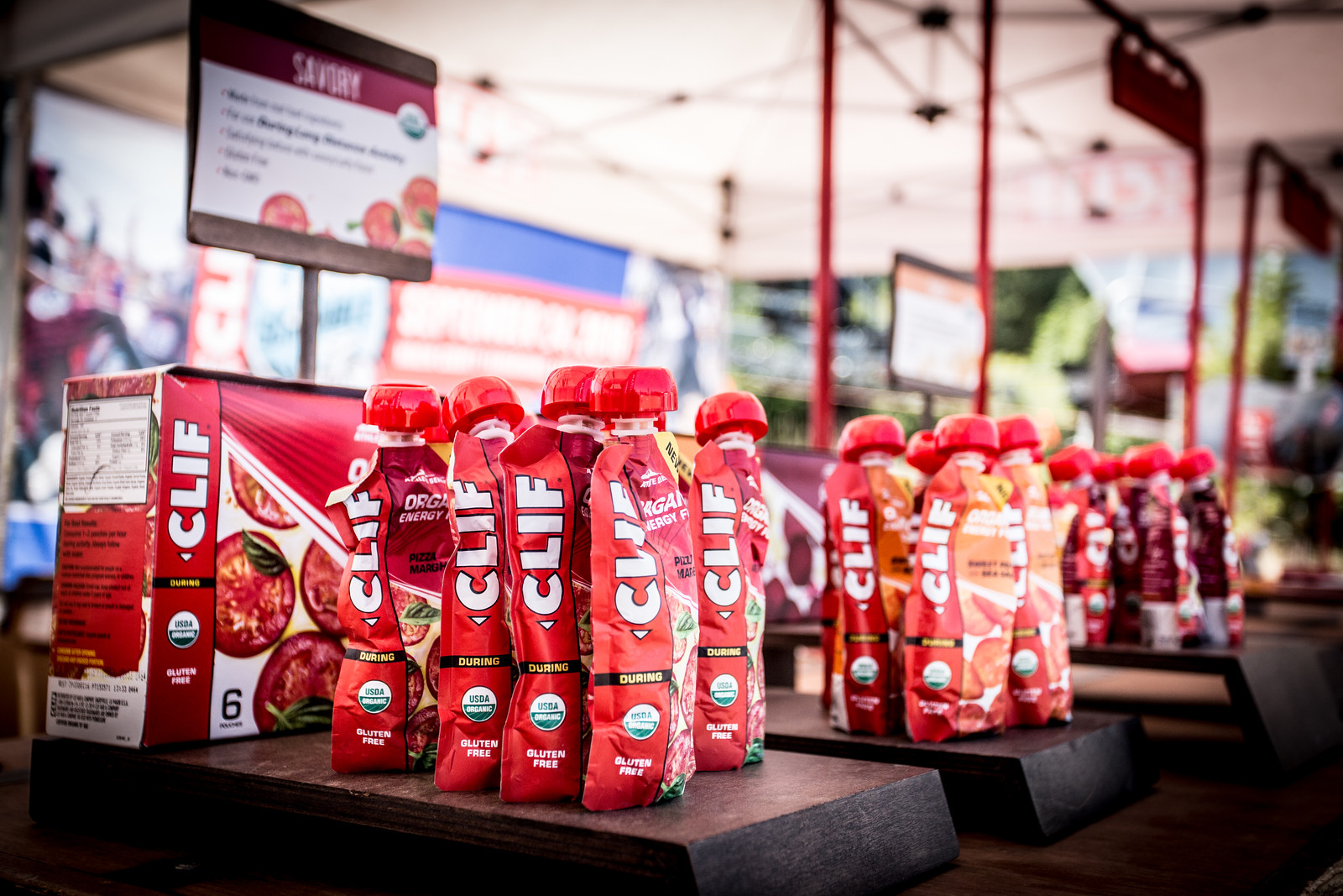 Clif Bar provided a massive amount of product in support of the weekend's racers.