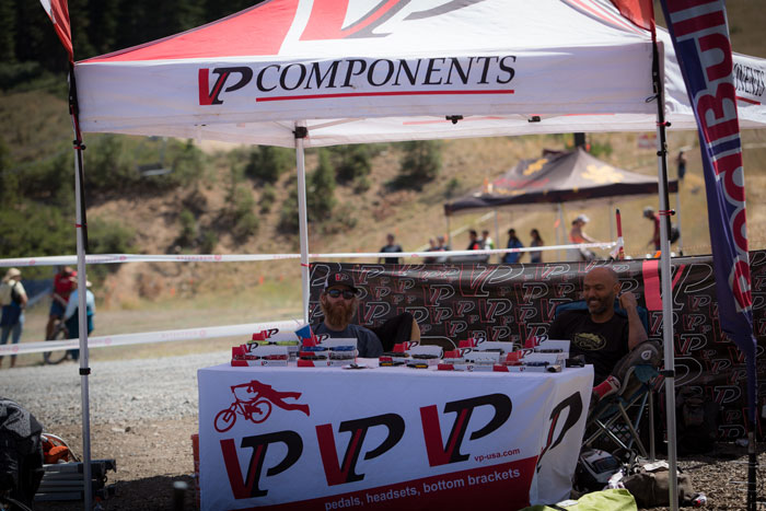 VP Components, a founding sponsor of the series, had a booth set up at mid mountain to showcase their new products.