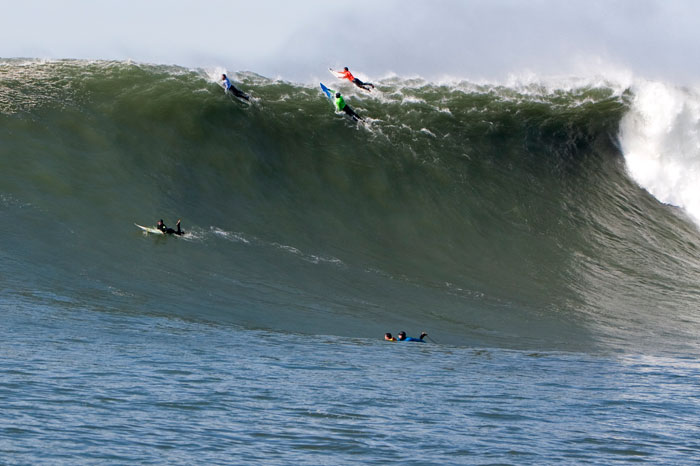 """On a big day at Mavericks, what are you going to do, put your tail between your legs? The situation will take the ego out of you,"" Pompermayer says."