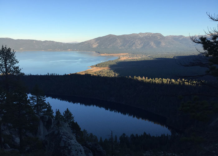 A view of Cascade Lake from my run up to Maggie's Peak.