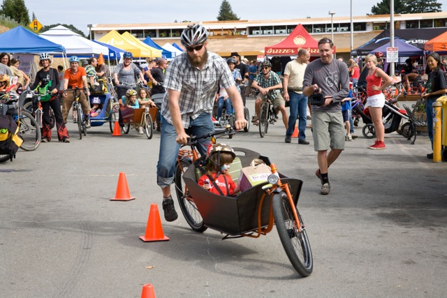 Cargo bike fun. Photo courtesy of Biketoberfest Marin.