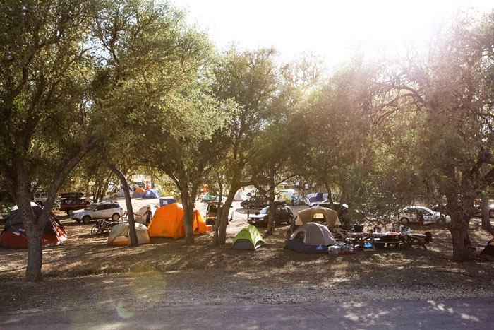 Camping at Wildflower. Photo: Kaori Photo.