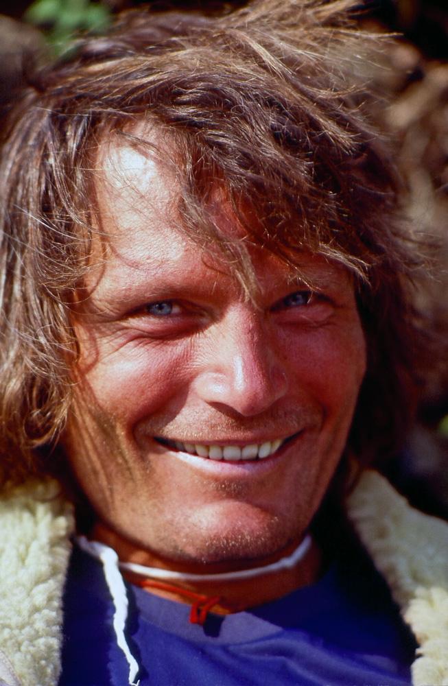 Kim Schmitz  June 26, 1946 – September 19, 2016 Photo: Kim in Nepal 1979 (John Roskelley). PHot