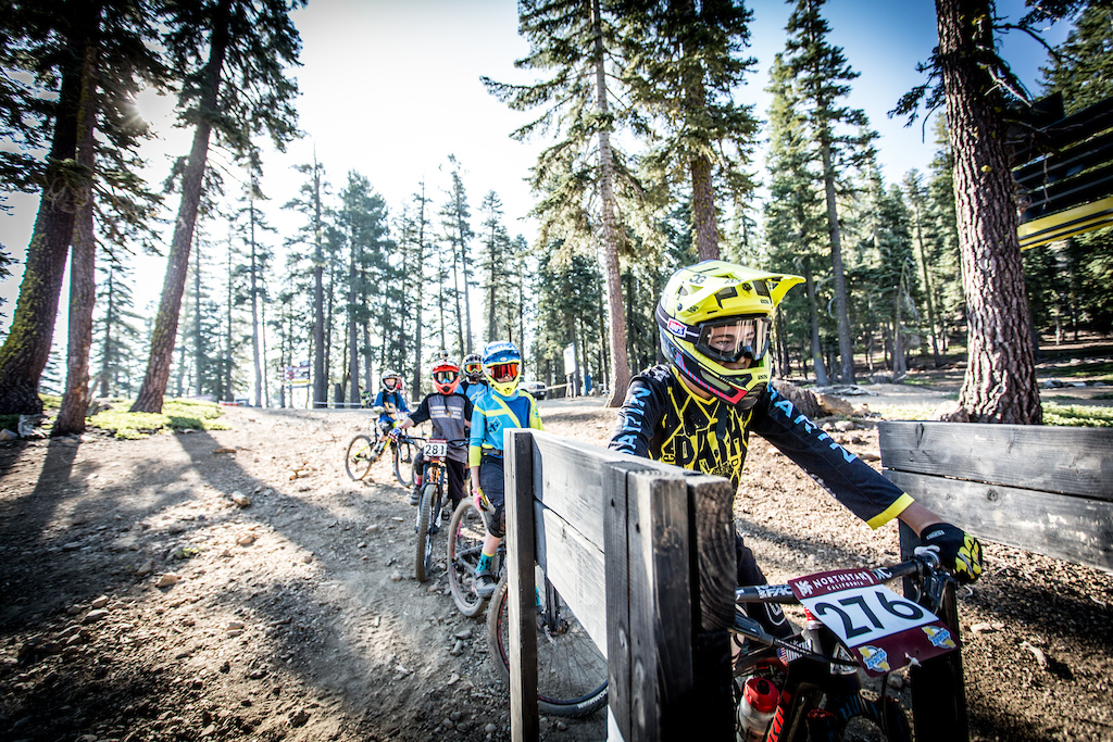 Blake Wray lines up in the gate on stage 4, day 2. Photo: Called to Creation.