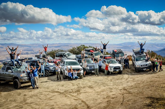 "Tepuifest attendees gather at the ""Top of the World"" after an offroad trail run at Hollister Hills. Photo: Tom Owen."