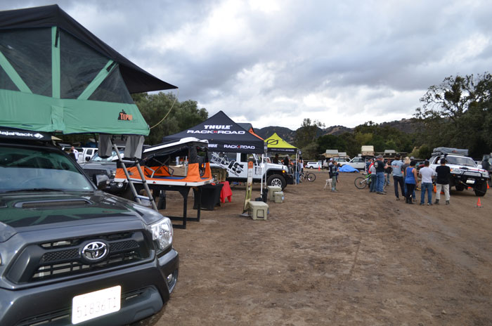 New innovations from Tepui, such as the Baja Series (left) were showcased at Tepuifest, along with a selection of products from Tepui's vendor partners. Photo: Aloe Driscoll.