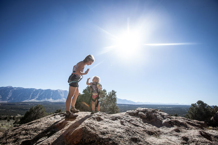 High fives after one of Matilda Schaumann Willey's first climbs.