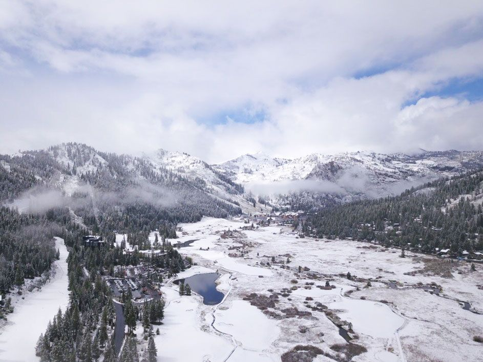 First Snow of the Season at Squaw Valley | Alpine Meadows