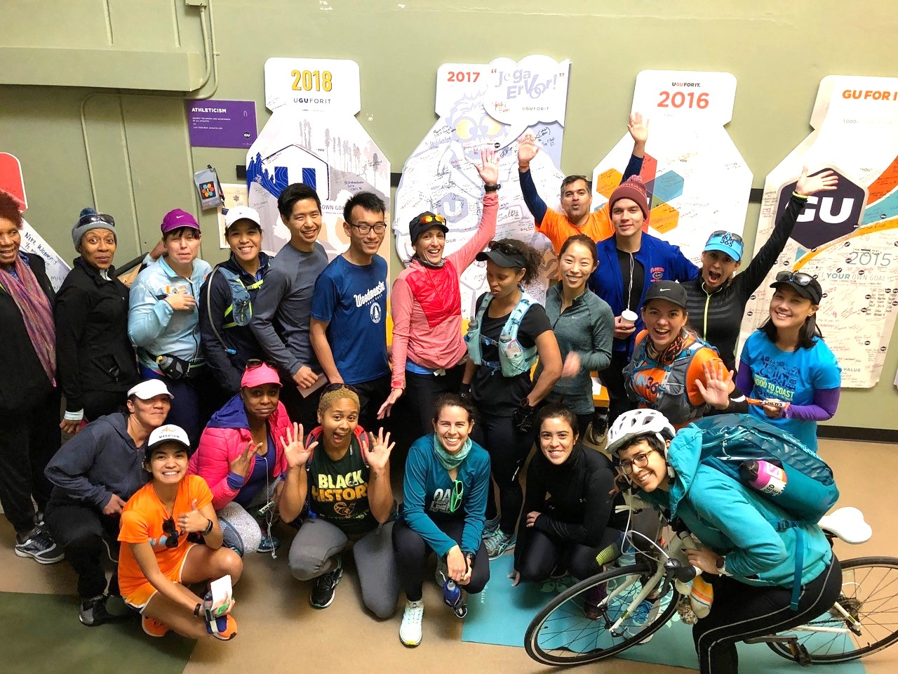 Big Sur International Marathon runners celebrate GU Energy sponsorship