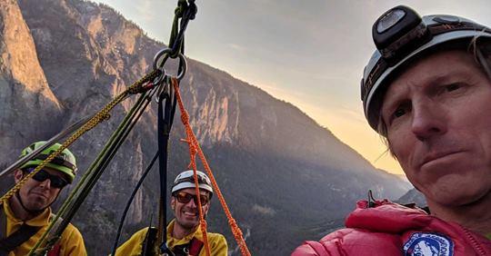 Hans Florine on El Cap