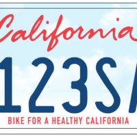 """Bike for a Healthy CA"" License Plate"