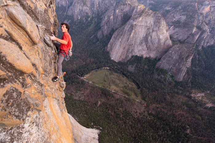 Brad Gobright high on El Capitan