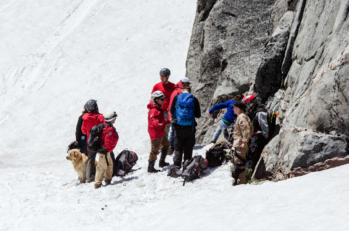 The Tahoe Nordic Search and Rescue team training sessions explore every aspect of mountain rescue.
