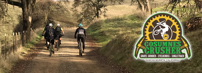 The Cosumnes Crusher will blend three awesome bike riding disciplines into one race – gravel grinding, cyclocross and sweet singletrack in Rancho Murieta.