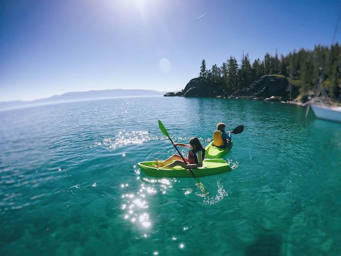 Sit-on-top Kayaks on Lake Tahoe.