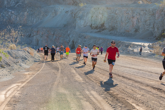 Runners and walkers put their endurance to the test as they climbed out of the pit of Vulcan Materials Company's Chula Vista Quarry.