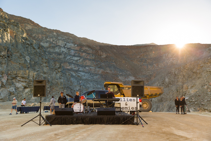 Head-pounding music produced by Allies and Enemies is what awaited the runners down in the pit of the Chula Vista Quarry.