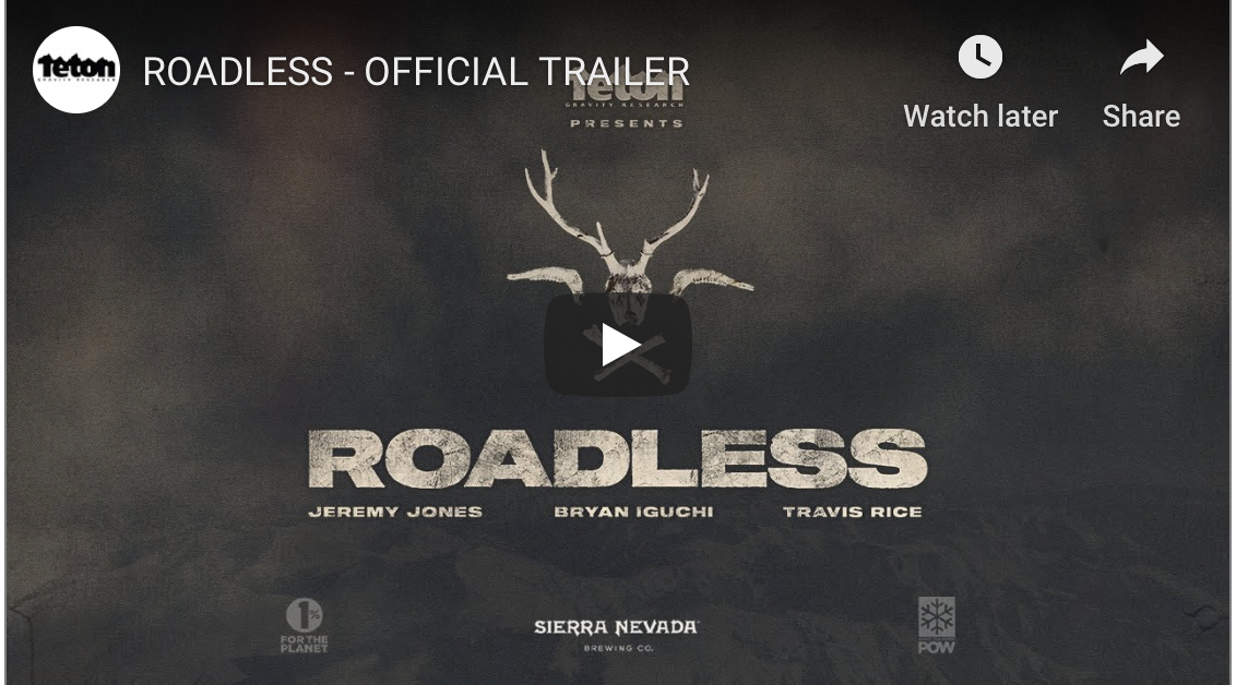 Teton Gravity Research's newest film trailer for ROADLESS