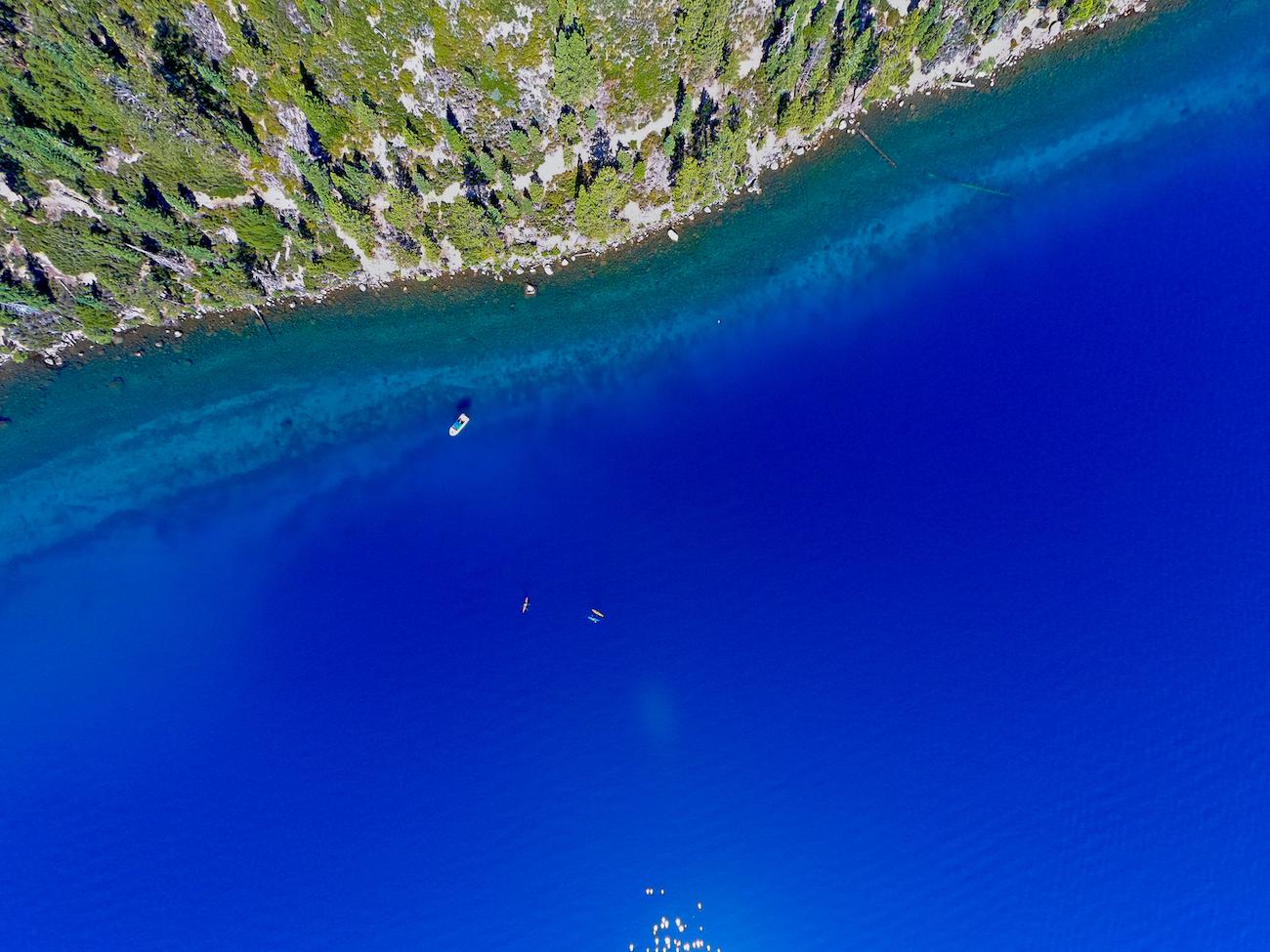 Beautiful satellite image of Lake Tahoe.