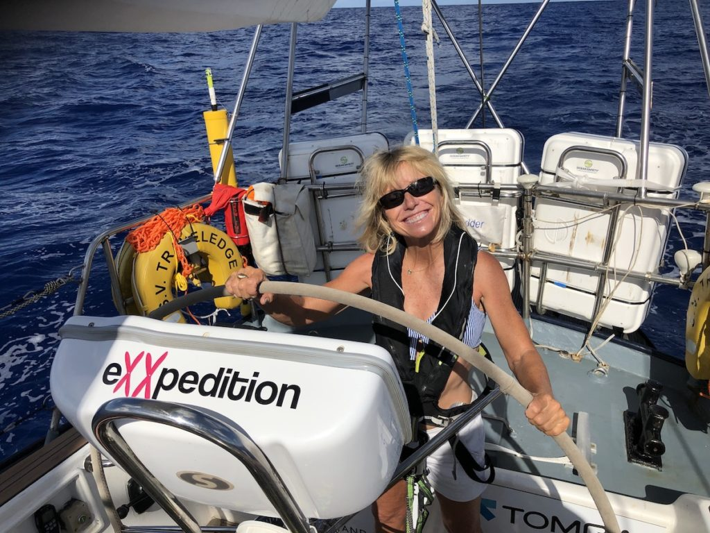 Eriksen at the helm of eXXpedtion.