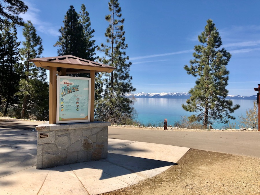 A large educational sign along the Tahoe East Shore Trail.