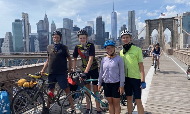 Cyclists complete cross-country excursion