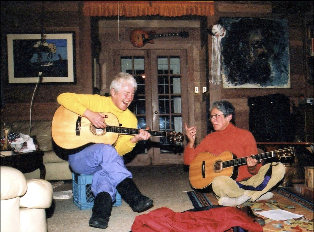 Jan Tiura and Joan Baez