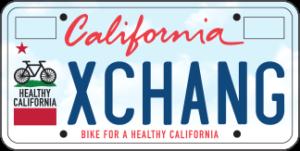 Cal Bike Plate Bike for a Healthy California