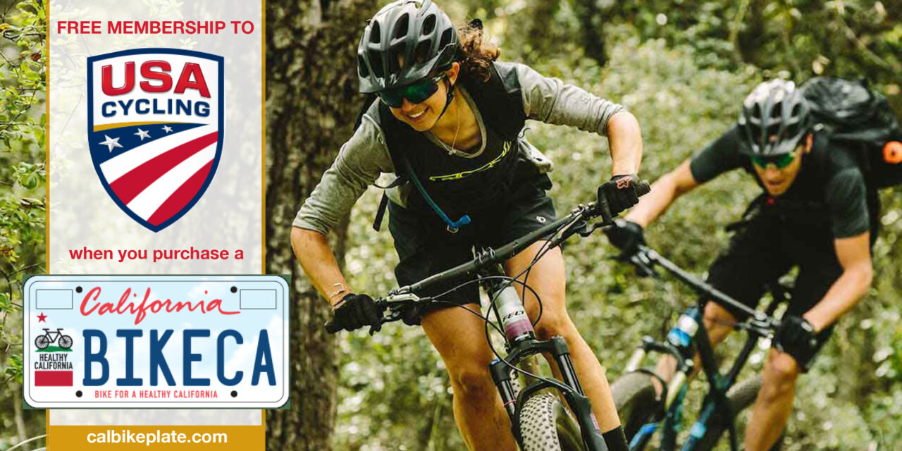 Free Membership to USA Cycling with Purchase of CA Bike Plate