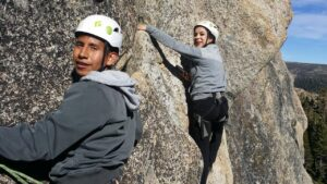 Pushing for Outdoor Diversity — Young climbers learn the ropes from the Gateway Mountain Center.