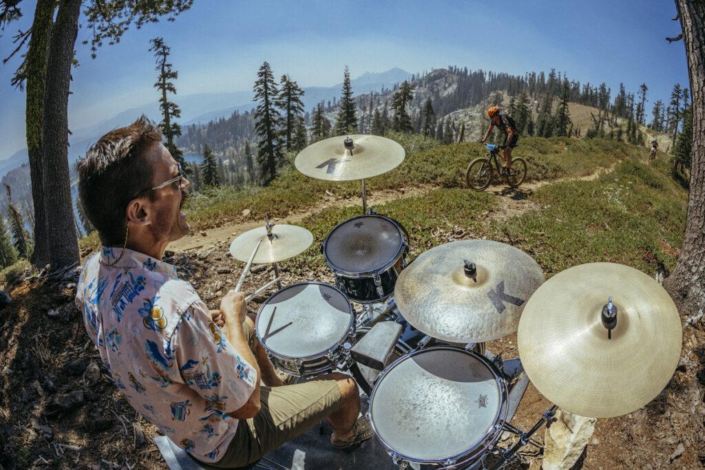 Kurt Gensheimer playing drums