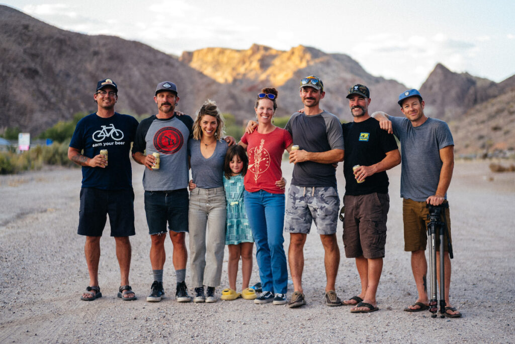 Kurt Gensheimer and other bikers in Nevada